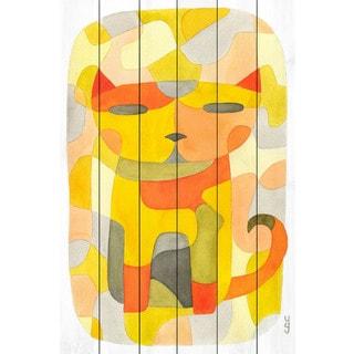 Marmont Hill - 'Cat 1' by Yolanta Gawlik Painting Print on White Wood
