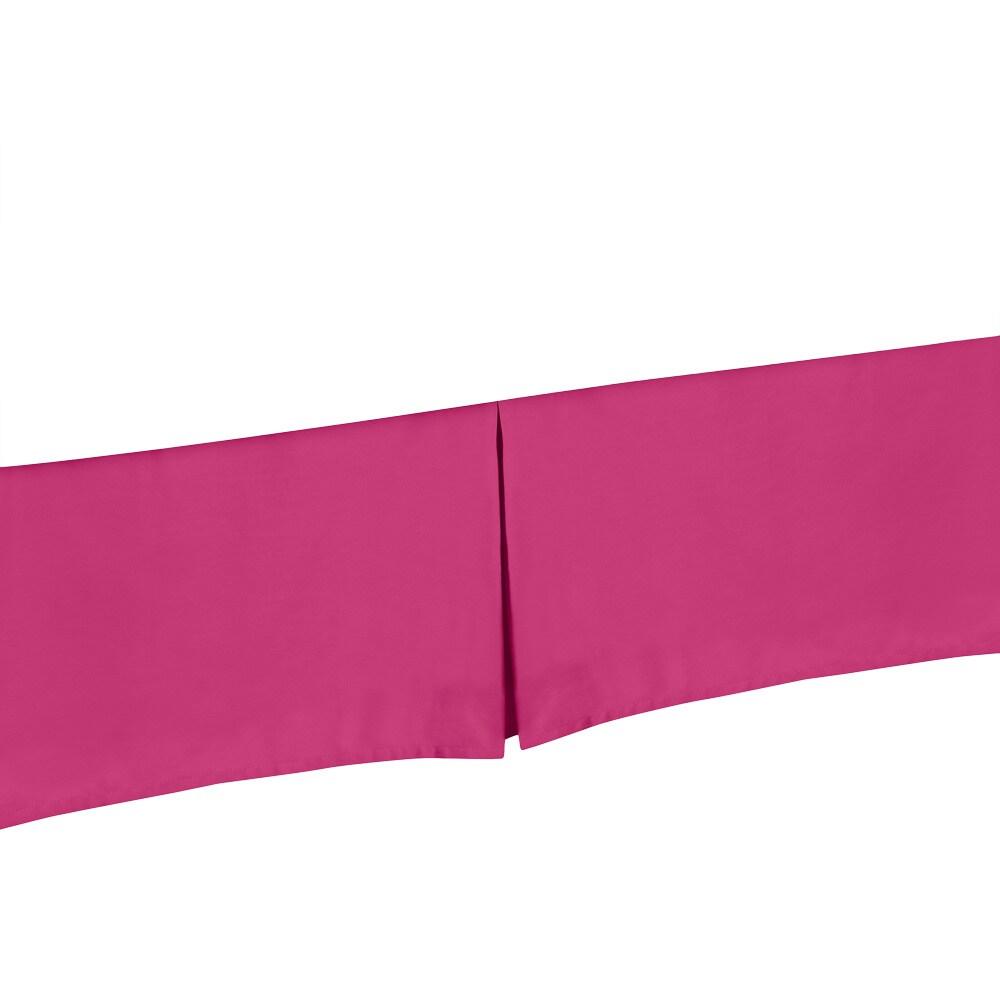 JoJo Designs Magenta Bed Skirt (King), Pink (Microfiber, ...