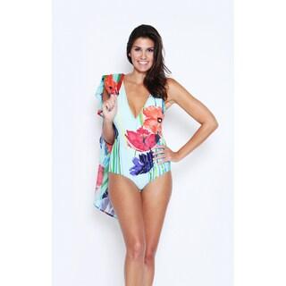 Swim by Chuck Handy Women's Spring Bouquet 1-piece Swimsuit including Kaftan