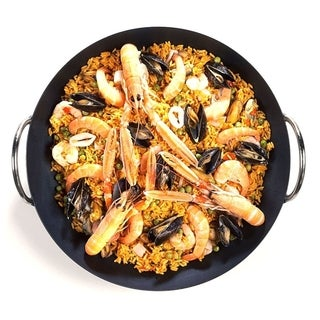Traditional 16-in. Spanish Paella Rice Mix Pan (Carbon Steel)