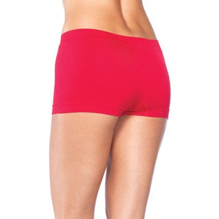 Leg Avenue Women's Red Nylon and Spandex Seamless Boyshorts