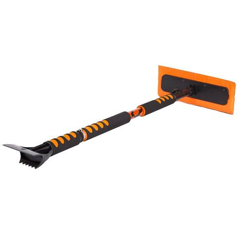 """BirdRock Home 55"""" Extendable Snow MOOver and Ice Scraper with Foam Grip"""