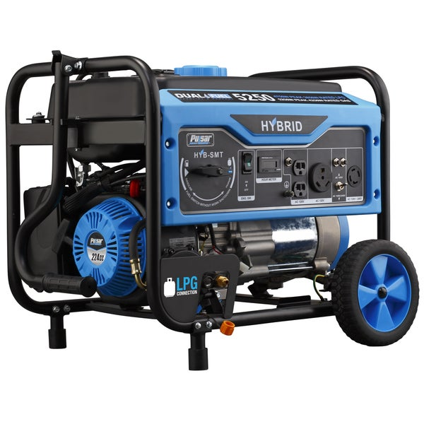 Pulsar 5250-watt Dual Fuel Portable Generator - Blue