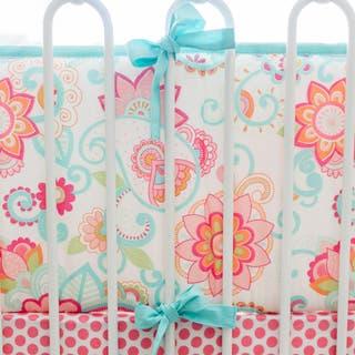 My Baby Sam Girls Gypsy Pink Cotton Baby Crib Bumper