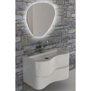 Eviva Touch 36-inch White Wall Mount Modern Bathroom Vanity with White Integrated Acrylic Sink