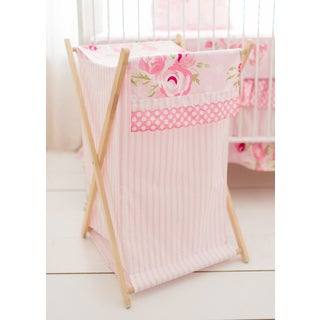 My Baby Sam Rosebud Lane Pink Cotton Hamper
