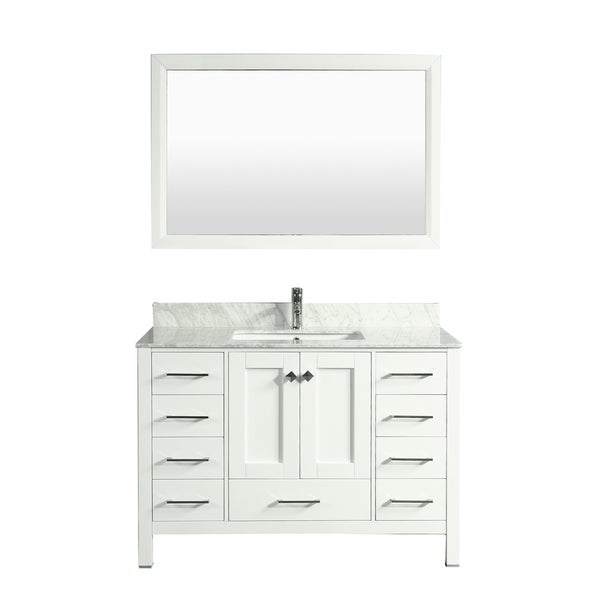 Eviva Aberdeen 48 Inch Transitional White Bathroom Vanity