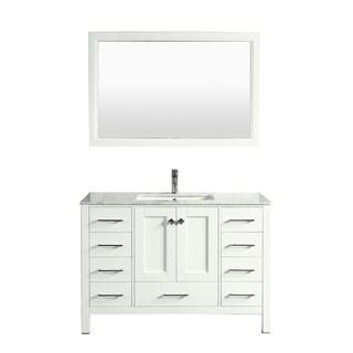 Eviva Aberdeen 48-inch Transitional White Bathroom Vanity