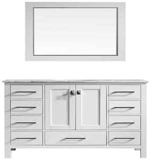 Eviva Aberdeen 60-inch Transitional White Single Bathroom Vanity