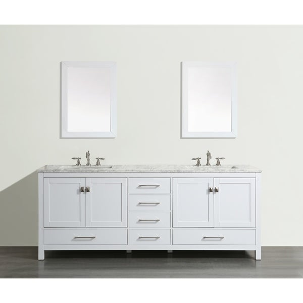 White Transitional Bathroom Vanities: Shop Eviva Aberdeen 72 Transitional White Bathroom Vanity
