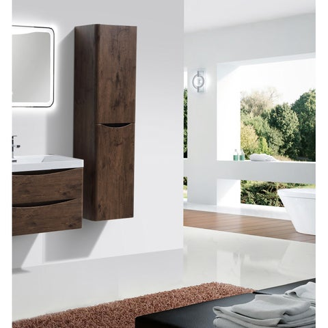 Eviva Smile Rosewood 16-inch Wall Mount Side Cabinet