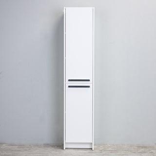 Eviva Lugano White Wooden 16-inch Modern Bathroom Storage Cabinet