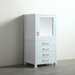 Eviva New York 24-inch White Side/Linen Bathroom Cabinet Storage - 24""