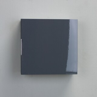 Eviva Libra Modern Grey Wood 14-inch Wall-mount Side Cabinet Storage Unit