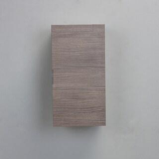 Eviva Cup 13-inch Medium Oak Modern Wall Mount Side Cabinet Storage