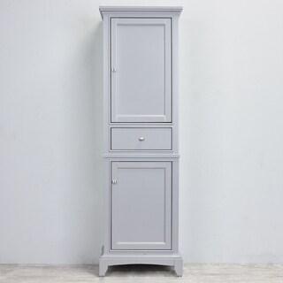 Eviva Elite Stamford Grey Wood 24-inch Linen Cabinet