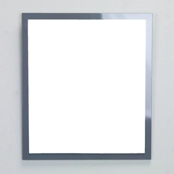 Eviva Reflection 24-inch Grey Full Framed Bathroom Wall Mirror