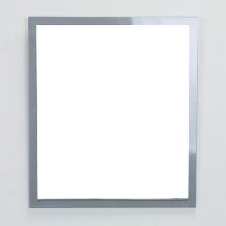 Eviva Reflection 31.5-inch Grey Full Framed Bathroom Wall Mirror