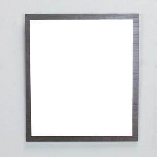 Eviva Reflection 31.5-inch Wenge Full Framed Bathroom Wall Mirror
