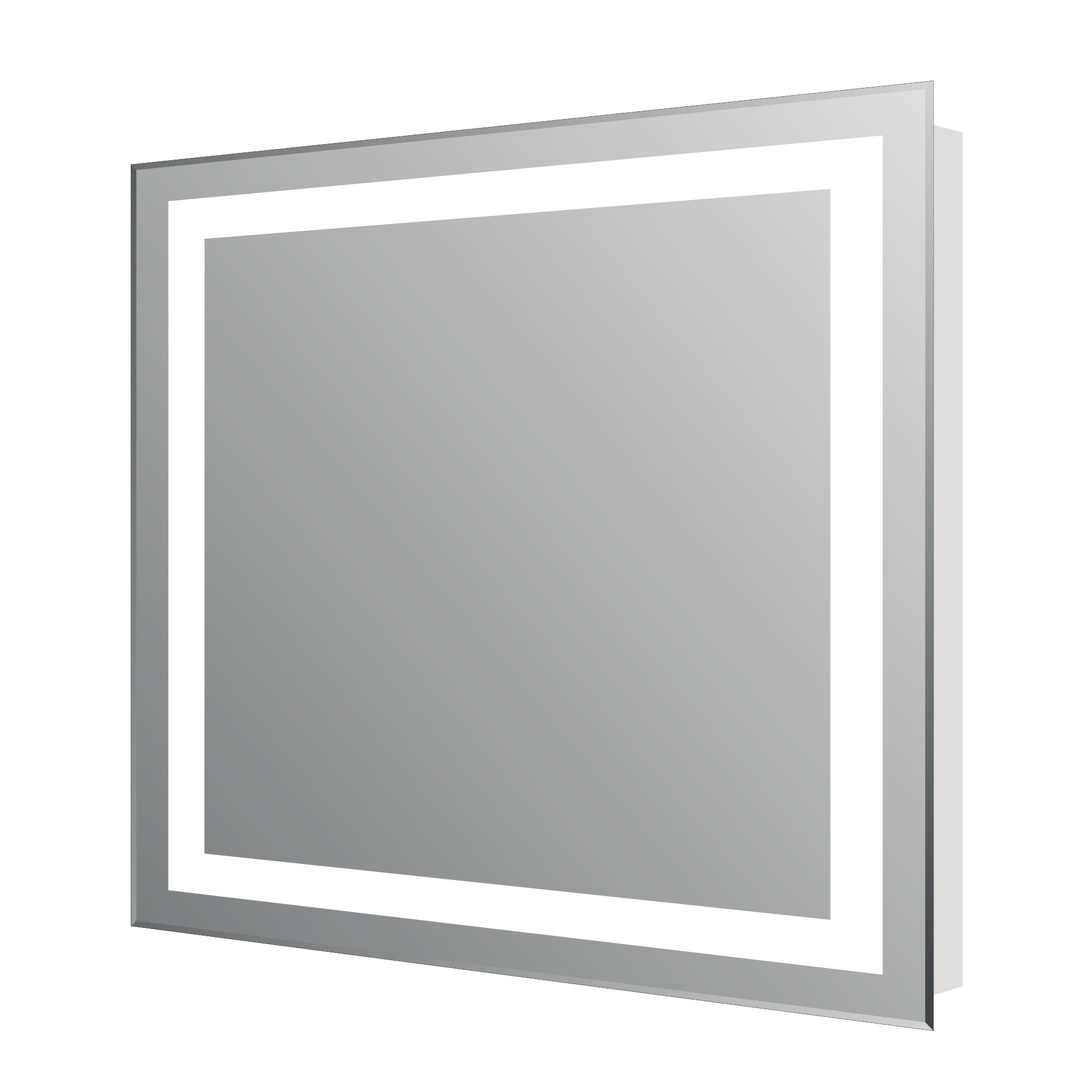 Eviva Evmr34 24x30 Led Lite Wall Mounted Modern Bathroom Vanity Backlit Lighted Led Mirror Silver Overstock 13935077