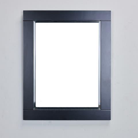 Eviva Aberdeen 24-inch Espresso Framed Bathroom Wall Mirror