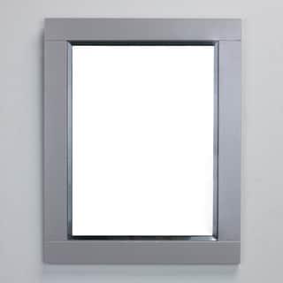 Eviva Aberdeen 24-inch Grey Framed Bathroom Wall Mirror