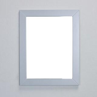 Eviva New York Bathroom Vanity Mirror Full Frame Grey Wall Mount
