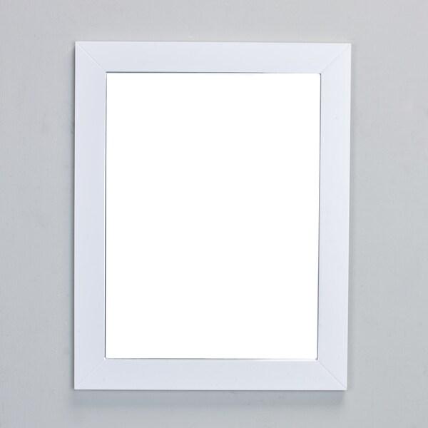 Eviva New York Bathroom Vanity Mirror Full Frame White Wall Mount