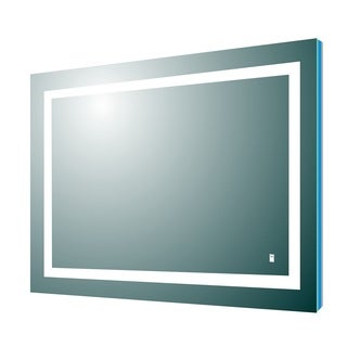 Eviva Deco Piece Wall Mounted Lighted Bathroom Vanity, Backlit LED Mirror with Frame Lights