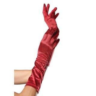 Leg Avenue Red Satin Elbow Length Gloves