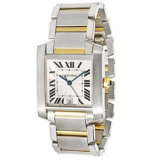 18k Gold & Steel Pre-Owned Cartier Tank Francaise W51005Q4 Unisex Watch https://ak1.ostkcdn.com/images/products/13935428/P20566895.jpg?impolicy=medium