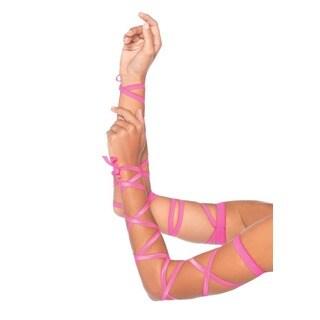 Leg Avenue Pink Ribbon Elastic Arm Wraps