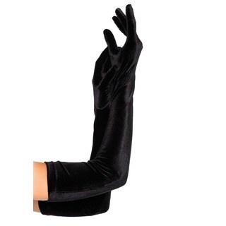 Leg Avenue Black Velvet Opera Length Gloves