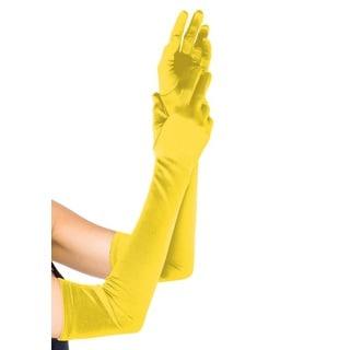 Leg Avenue Yellow Satin Extra Long Gloves