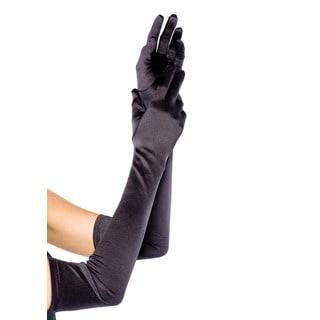 Leg Avenue Black Extra Long Satin Gloves