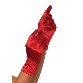 Leg Avenue Red Satin Wrist-length Gloves
