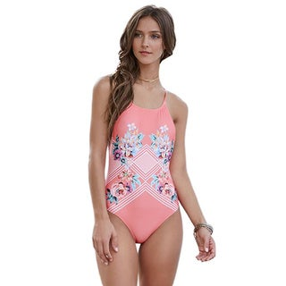 Minkpink Bloomin Beach Floral Elastic 1-piece Swimsuit