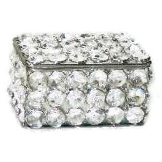 Elegance Sparkle Crystal Rectangular Jewelry Box