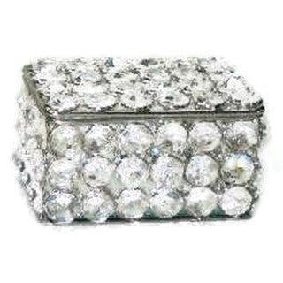 Elegance Sparkle Crystal Jewelry Box (Option: Silver)