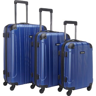 Kenneth Cole Reaction Out of Bounds 20in/24in/28in Lightweight Hardside 4-Wheel Spinner 3-Piece Luggage Set (Option: Cobalt blue)