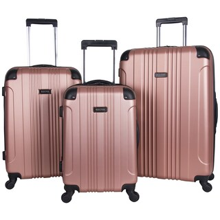 Kenneth Cole Reaction Out of Bounds 20in/24in/28in Lightweight Hardside 4-Wheel Spinner 3-Piece Luggage Set (Option: rose gold)