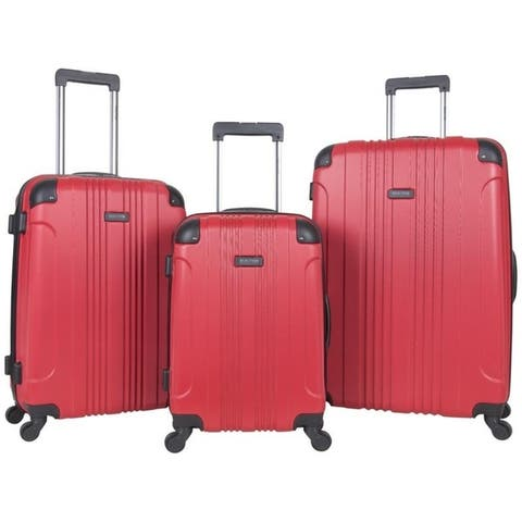 "Kenneth Cole Reaction ""Out of Bounds"" 3-Piece 20in/24in/28in Lightweight Hardside 4-Wheel Spinner Luggage Set - Multiple Colors"