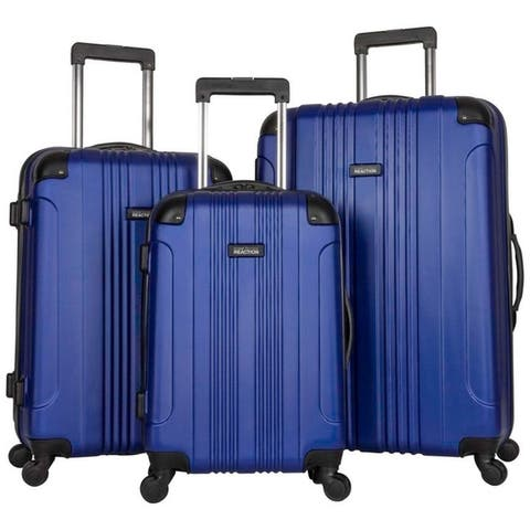 """Kenneth Cole Reaction """"Out of Bounds"""" 3-Piece 20in/24in/28in Lightweight Hardside 4-Wheel Spinner Luggage Set - Multiple Colors"""