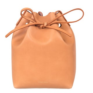 Mansur Gavriel Camello Mini Mini Bucket Leather Handbag
