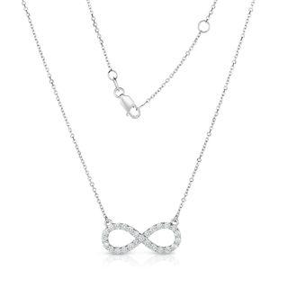 Noray Designs 14k White Gold 5/8ct TDW White Diamond Infinity Necklace (G-H, I1-I2)