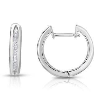 Noray Designs 14k White Or Yellow Gold 1/4ct TDW White Diamond Hoop Earrings (G-H, I1-I2)