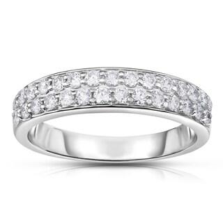 Noray Designs 14k White Gold 1/2ct TDW White Diamond Double-Row Ring (G-H, I1-I2)