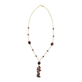 Amethyst Pendant Style Necklace and Earring Set