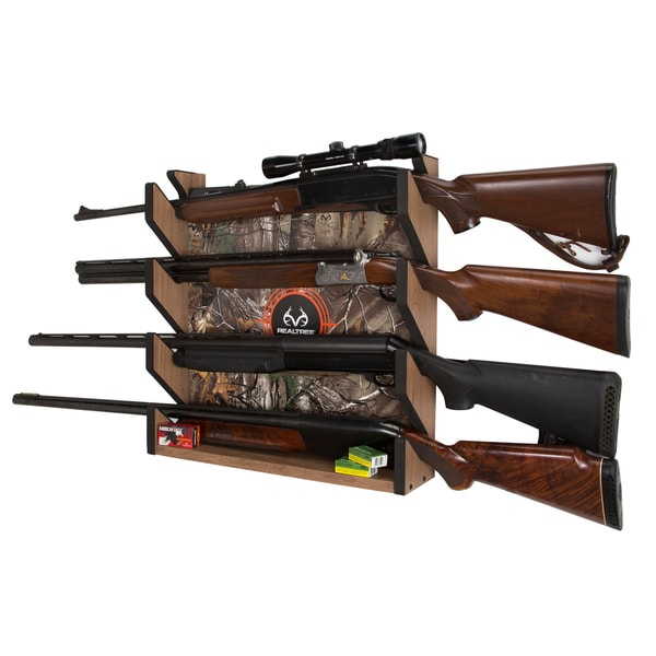 Wood 4-gun Wall Rack
