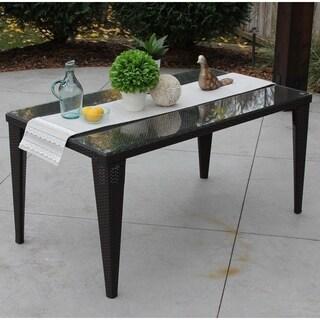 DISCONTINUED Standard All-Weather Espresso Rattan Wicker Table